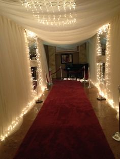 since I have 30-50 strings of these lights the school can borrow from prom this year we could do something like this
