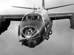 Martin-B-26C-Maraude front gunner smoke )