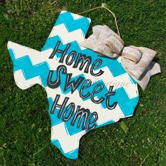 Custom Wooden State Door Hanger with Phrase of Your Choice and Bpw