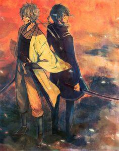 Gintama . Sakata Gintoki . Takasugi Shinsuke .