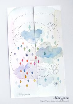 le blog de Thévy!: Marque-pages Aquarelle***Watercolor Bookmarks