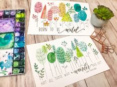 Learn to incorporate watercoloring into your floral drawings. Using simple techniques, create a beautiful piece of whimsical art.