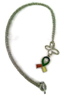Autism Awareness Necklace - Autism Necklace - Awareness Necklace - Autism Awareness Ribbon Necklace - Awareness jewelry - Autism Jewelry