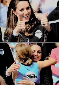 The Duchess of Cambridge cheering on & supporting the runners at the London Marathon