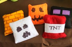 Minecraft Party Minecraft Activities Bean Bags - made from felt and filled with dried beans