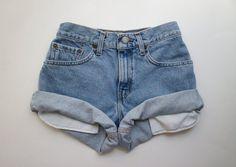 "ALL SIZES Vintage ""HERCULES"" High Waisted Denim Shorts"