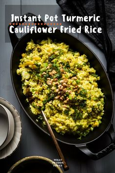 Turmeric Cauliflower Fried Rice #instantpot #thank…