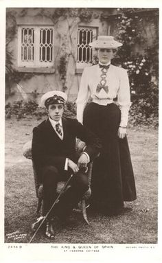 King Alfonso XIII and Queen Victoria Eugenie of Spain