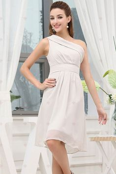 A-line Ein-Schulter knielang Chiffon Elegent Prinzessin Homecoming Kleider131,48 €   75,13 €