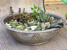 I have a mini red colander I could do this with!!