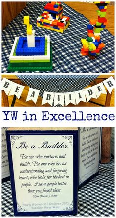 Be a Builder YW In Excellence >> a great idea for young women in excellence!