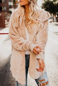 Pistachio Womens Girls Teddy Bear Faux Fur Shaggy Coat Jacket Boho Fluffy Cream.