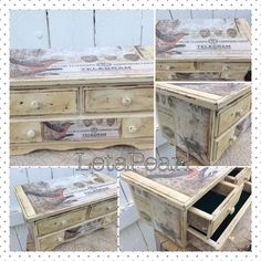 Rustic Painted Cream Jewelry Box Distressed by LetaPearlEmporium