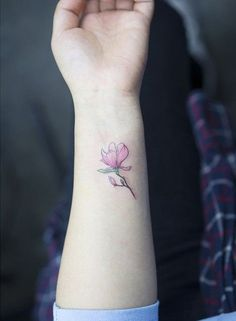Magnolia tattoo on wrist - 50 Magnolia Flower Tattoos <3 <3