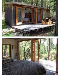 Tiny House Magazine on Weekend Retreat California by sculptor Loren Madsen Tiny House Cabin, Tiny House Living, Cabin Homes, Prefab Homes, Container House Design, Tiny House Design, House And Home Magazine, Little Houses, Architecture Design