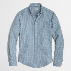 J.Crew Factory - Factory slim washed shirt in mini-gingham