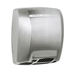 MEDICLINICS • M02ACS Hand Dryer, Office Bathroom, Brushed Stainless Steel, Cover, Slipcovers, Blankets