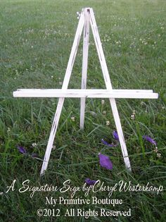 Vintage Wedding Easel, Distressed Easel, Easel For Your Cottage Sign, Shabby…