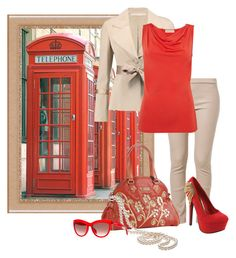 """""""In London"""" by irnarenko ❤ liked on Polyvore featuring Valentino, Patrizia Pepe, Michael Kors, Nicole Lee, Red Circle and Alexander McQueen"""