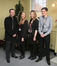 (L to R) Craig Wartnaby, Beth Hooper, Charlotte Nelson and Griff Wood - past apprentices.