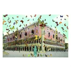 Peter Blake - The Butterfly Man in Venice's St Mark's Square