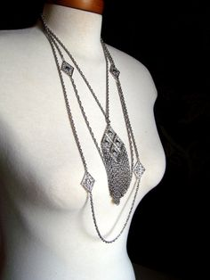 Vintage Egyptian Revival Fringe Runway by AntiqueAlchemists Etsy Vintage, Egyptian, 1960s, Buy And Sell, Chain, Pendant, Serenity, Silver, Runway