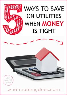 When money is tight, sometimes you need to cut your budget. These 5 money saving tips focus on utilities because saving money on phone, electricity, cable, and gas can make a HUGE difference in your household expenses! #budgeting #ad #IGSEnergy