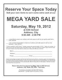 PTO Ideas Blog: How We Organized & Ran a School Yard Sale Fundraiser