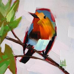 """Robin no. 56"" - Original Fine Art for Sale - © Angela Moulton"