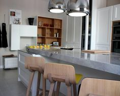 Concrete look or finish kitchen bench