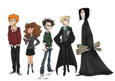 Some characters from Harry Potter by eyugho's art