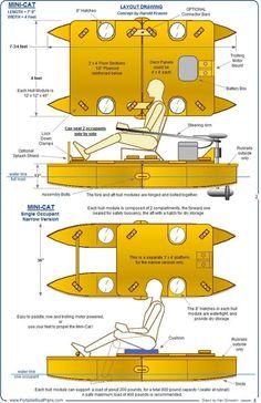 Portable Boat Plans - MINI-CAT (2 piece pontoon boat)