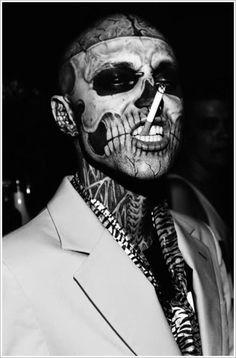 Tattoo for guys skull rick genest 47 super ideas Chicano Tattoos, Maori Tattoos, Sleeve Tattoos, Cool Face Tattoos, Face Tattoos For Men, Unique Tattoos, Tattoos For Guys, Boy Tattoos, Halloween Tattoo
