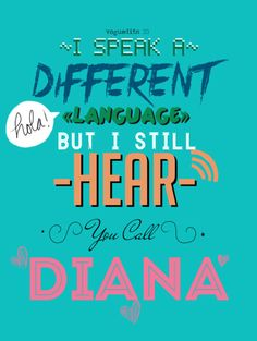 Diana, honestly this is one of the best songs of One Direction
