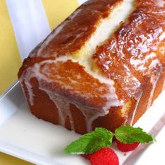 Recipe For Ina Gartens Lemon Loaf - This quick, simple loaf cake has a tangy, drenched lemon flavor! Lemon Desserts, Köstliche Desserts, Dessert Recipes, Meyer Lemon Recipes, Loaf Recipes, Wing Recipes, Lemon Cake Recipes, Dessert Bread, Fast Recipes