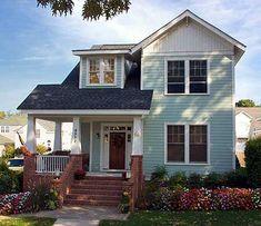 Narrow Lot Craftsman Home Plan