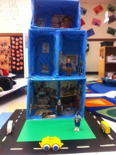 This doll house was created to enhance the block area in my pre-school class… Preschool Family Theme, Preschool At Home, Preschool Lessons, Preschool Activities, The Block, Butcher Paper, Classroom Projects, Classroom Themes, Block Center Preschool