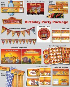 INSTANT DL Lion Guard birthday party package kit by foxisgone