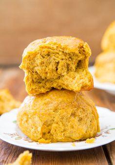 Honey Butter Pumpkin Dinner Rolls - Easy, Soft Dinner Roll Recipe at averiecooks.com