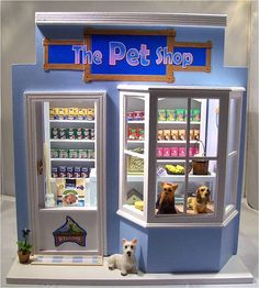 Pet Shop by Mum and Me Miniatures, via Flickr