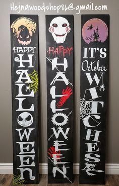 Halloween Yard Art, Easy Halloween Crafts, Halloween Home Decor, Halloween Signs, Halloween Projects, Diy Halloween Decorations, Scary Halloween, Fall Crafts, Holiday Crafts