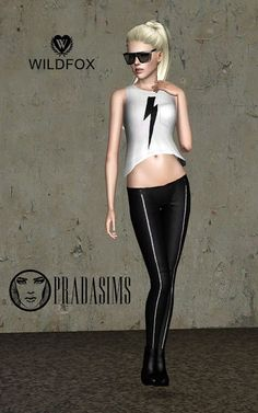 Wildfox Tank Top at Prada Sims - Sims 3 Finds