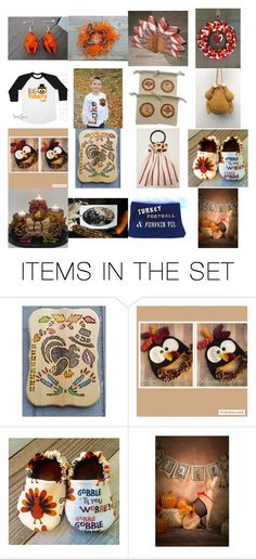 """""""Gobble, Gobble, Hey!"""" by kmdvl on Polyvore featuring art"""
