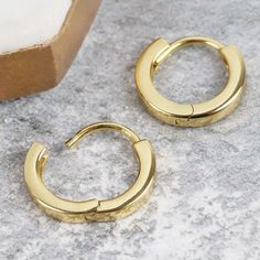 Looking For Gold Earrings Her These Plated Sterling Silver Hoop Are Perfect