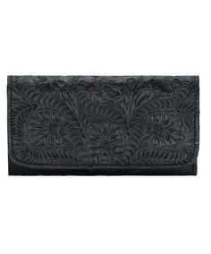American West Ladies Tri-Fold Wallet in Black at Maverick Western Wear