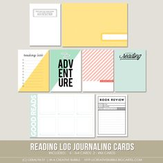 Image of Reading Log Journaling Cards (Digital)