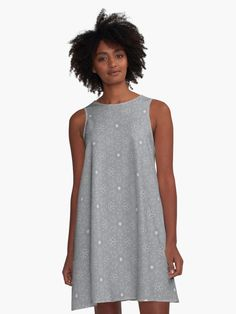 """Ultimate Gray #2"" A-Line Dress by Kettukas 