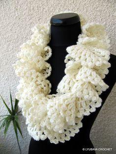 Ruffle Lace Scarf Crochet Pattern PDF, Marvellous Ruffle Scarf Easy Tutorial Pattern, Instant Download Lyubava Crochet Pattern number 97