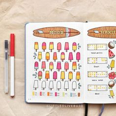 mood tracker idea for adding to your bullet journal. #mentalhealth #selfcare #bulletjournaling