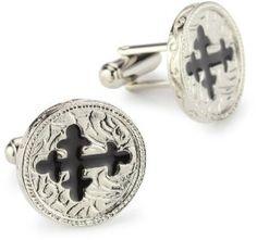 Vatican Library Collection Black Cross Cufflinks #cufflinks #mensfashion #vatican